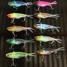 10 Soft Plastic Vibe Freshwater Fishing Lures 70mm  Bream  Bass Flathead Lure
