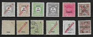 HICK GIRL- M&U. PORTUGAL-TIMOR STAMPS    VARIOUS ISSUES       T248