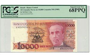 10 PCS BRAZIL 100 CRUZEIROS 1981-84 P 198 UNC PACK OF 10 NOTES