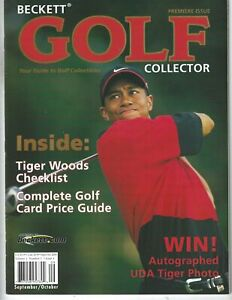 Tiger Woods Beckett Golf Collector Premier Issue #1 Sept/Oct 2001