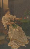 Fine Early 20th Century Oil - Portrait of an Italian Lady