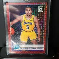 19-20 Optic Talen Horton Tucker Rookie Choice Red Prizm Mojo  /88 RC Lakers