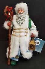 Clothtique Possible Dreams Santa Claus Figure American Artist Lighting The Way