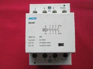 MCG MC340 40 AMP 4 POLE N.O 230V CONTACTOR Din Rail Mounting