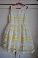 J Jasper Conran Yellow White Organza Party Dress BNWT Age 10