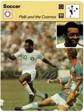 Pelé and the Cosmos signed 1979 Soccer Sportscaster Reconte Fact Card BRAZIL