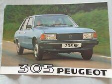 Peugeot 305 range brochure 1980