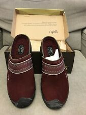 Ryka Nytracel Clogs Slippers Maroon with Good Tread - New In Box Size 8.5