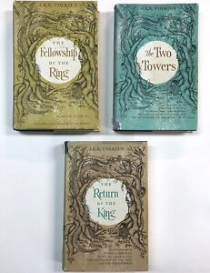 LORD OF THE RINGS Trilogy 1965 First US Edition TOLKIEN Riverside Press Mifflin