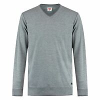 Lee Cooper Mens V Neck Sweater Crew Jumper Pullover Long Sleeve