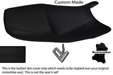 BLACK STITCH CUSTOM FITS SUZUKI GS 500 01-09 DUAL REAL LEATHER SEAT COVER