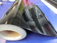 Black Gloss Vinyl Wrap Sticker 610mm x 1000mm