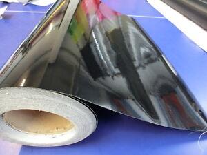 Black Gloss Vinyl 600mm(23.6in) x 1000mm(39.4in) Wrap Film Sheet Sticker