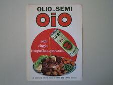 advertising Pubblicità 1966 OLIO DI SEMI OIO