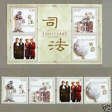 Hong Kong 2008 Judiciary Souvenir Sheet + Stamps