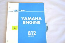 1970's Vintage Sno-Jet Snowmobile SS-SL 292(812) Yamaha Eng. Parts Manual (OR2)
