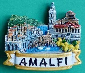 Souvenir Fridge Magnet Amalfi Duomo Cathedral And Coastal Road Italy