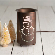 Snowman electric Tart Warmer in Aged Copper Finish