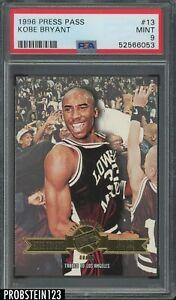 1996-97 Press Pass #13 Kobe Bryant Los Angeles Lakers RC Rookie HOF PSA 9 MINT