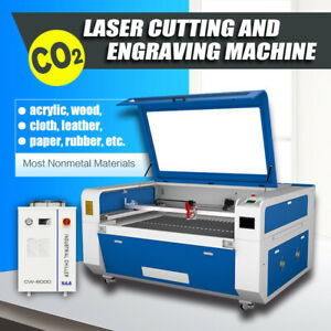 YongLi CO2 300W Laser Engraver Cutter 51x35in Bed Autofocus Water Chiller Ruida