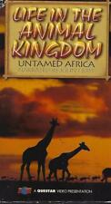 VHS: 2-VIDEO LIFE IN THE ANIMAL KINGDOM UNTAMED AFRICA NARRATED BY JOHN HURT