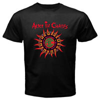 ALICE IN CHAINS Sun Logo Men's Black T-shirt Size S to 3XL