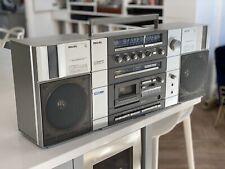 Vintage 80s Philips Compo Soundmachine 8718 Boombox Ghetto Blaster