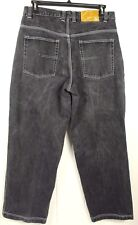 PJ MARK Mens 100% Cotton Black / Dark Gray High Rise Denim Jeans Sz 36x32