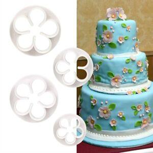 3D Rose Petal Flower Cake Cutter Fondant Icing Tool Decorating Mould Sugarcraft4