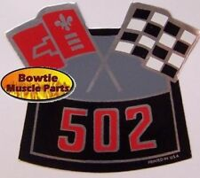 BIG BLOCK CHEVY 502 CROSSED FLAGS AIR CLEANER DECAL