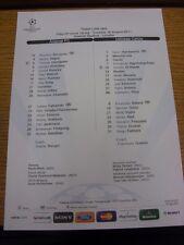 16/08/2011 Colour Teamsheet: Arsenal v Udinese [Champions league] . Thanks for v