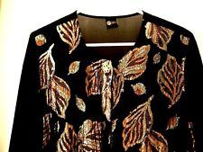 Your Sixth Sense Dressy Sparkle Semi-Sheer Blouse Top Shirt-42A Wow Nice!