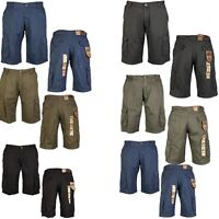KAM Mens Big King Size Designer Cargo Combat Shorts Smart Casual Walking Shorts