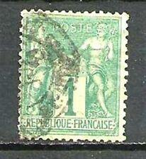 FRANCE N° 61 Type SAGE 1 C. Vert. Oblitéré. Cote 125€