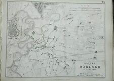 ITALIA BATTAGLIA DI MARENGO 1800-FRANCESE e le posizioni austriache foglio 1 pub1848 m2