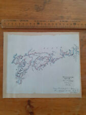 1858 hand drawn map showing the course of HMS Furious Japan part of Nipon