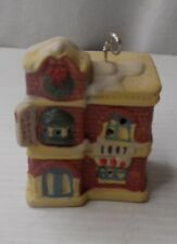 """Badcock Collectible Village Christmas Ornament Bell 2 1/8"""" W x 1 3/4"""" x 2 3/4"""" H"""