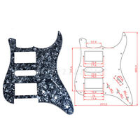 Black Pearl Guitar Pickguard Scratch Plate For Fender Stratocaster HSH 3 Ply
