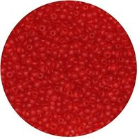 *** CLOSEOUT *** Japanese Seed Beads 11//0 Transparent Red Iris 1//2 ounce