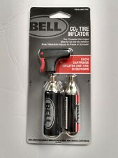 BELL CO2 Bike Tire Inflator w/2 cartridges smart valve / Presta or Schrader