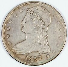 1837 United States Capped Bust Silver Half Dollar Reeded Edge 50c
