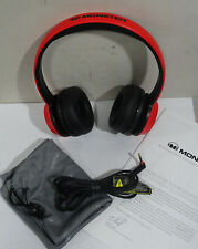 Monster NTune On-Ear Headphones - Matte RED FREE USA SHIPPING!