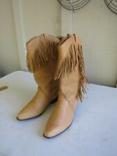 Ladies Dingo Tan Leather Cowgirl Western Boots Size 9 D Style 8243