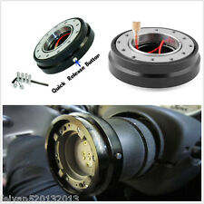 Universal Black Steering Wheel Race Quick Release Hub Adapter Snap Off Boss Kit