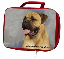 More details for bullmastiff dog-with love insulated red school lunch box/picnic bag, ad-bmt1ulbr