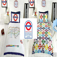 London Underground/Tube Map Reversible Duvet Cover/Quilt Cover Set Bedding