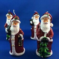 Santa Claus candles set of 4 father Xmas table decorations nativity scene