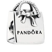 Genuine PANDORA Shopping Silver Bag 791184 charm S925 ALE
