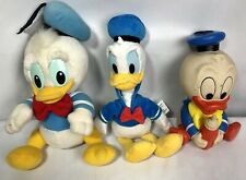 DISNEY Donald Duck Plush/Plastic LOT of 3, Free Shipping.