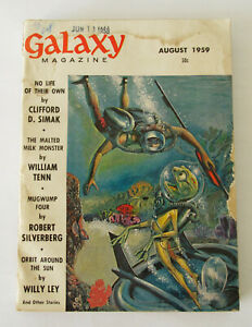 Galaxy Magazine ~June 1959 ~ Great Wood cover ~ Simak,Pohl, Ley stories